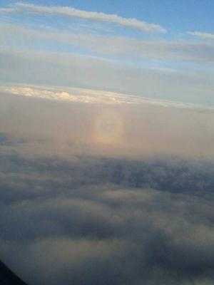 The orb of rainbow/sundog